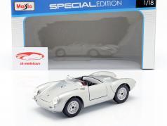 Porsche 550 A Spyder År 1950 sølv 1:18 Maisto
