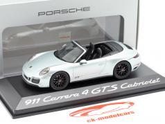 Porsche 911 (991 II) Carrera 4 GTS кабриолет родий серебро металлический 1:43 Herpa