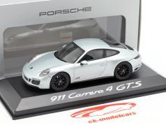 Porsche 911 Carrera 4 GTS zilver 1:43 Herpa