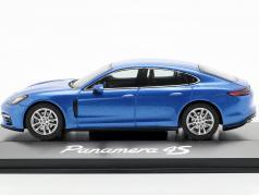 Porsche Panamera 4S (2. Gen.) Byggeår 2016 safir blå metallisk 1:43 Herpa