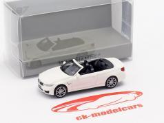 BMW M4 Cabriolet Baujahr 2015 weiß 1:87 Minichamps