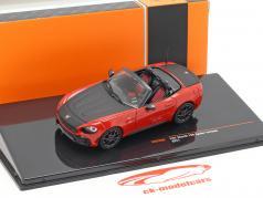 Fiat Abarth 124 Spider Turismo Baujahr 2017 rot / schwarz 1:43 Ixo