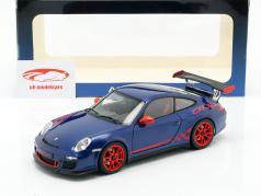 Porsche 911 (997) GT3 RS 3.8 Anno 2010 blu metallizzato / rosso 1:18 AUTOart