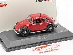 Volkswagen VW besouro Ovali bombeiros vermelho / preto 1:43 Schuco