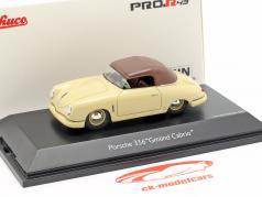 Porsche 356 Gmünd Cabriolet Closed Top beige / braun 1:43 Schuco