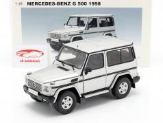 Mercedes-Benz G 500 SWB année 1998 argent 1:18 AUTOart