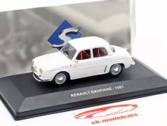 Renault Dauphine year 1961 white 1:43 Solido