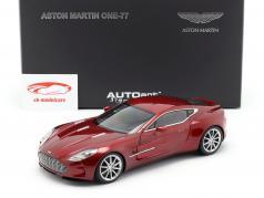 Aston Martin One-77 Year 2009 diavolo red 1:18 AUTOart