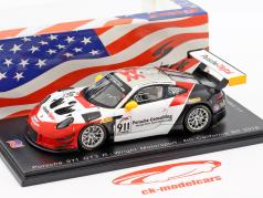 Porsche 911 GT3 R #911 4th 8h California 2018 Wright Motorsport 1:43 Spark