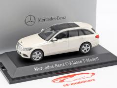Mercedes-Benz C-Klasse T-Model diamant hvid metallisk lyse 1:43 Norev