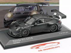 Porsche 911 (991) GT3 R 2018 Iron Force Plain Body tappetino nero 1:43 Minichamps