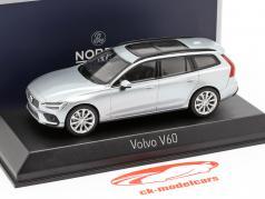 Volvo V60 Baujahr 2018 hell silber metallic 1:43 Norev