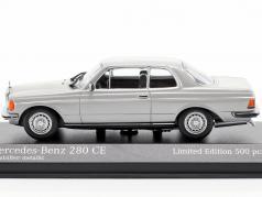 Mercedes-Benz 280 CE (W123) year 1976 astral silver metallic 1:43 Minichamps