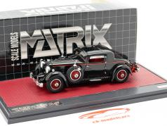 Stutz Model M Supercharged Lancefield Coupe Closed year 1930 black 1:43 Matrix