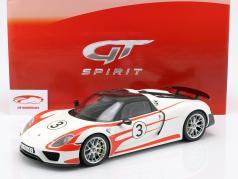 Porsche 918 Spyder #3 Weissach Package white / red 1:12 GT-SPIRIT