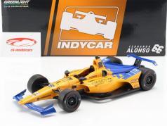 Fernando Alonso Chevrolet #66 IndyCar Series 2019 de qualificação McLaren Racing 1:18 Greenlight