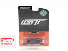 Ford GT ano de construção 2019 carbono série cinza / preto / laranja 1:64 Greenlight