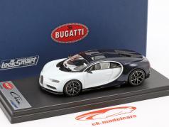 Bugatti Chiron Skyview branco / azul escuro metálico 1:43 LookSmart