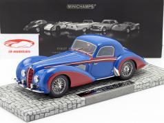 Delahaye Type 145 V12 Coupe année 1937 bleu / rouge 1:18 Minichamps