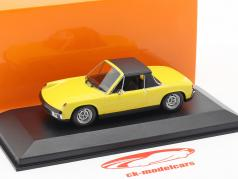 Volkswagen VW-Porsche 914/4 Opførselsår 1972 gul 1:43 Minichamps