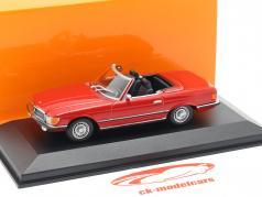 Mercedes-Benz 350 SL cabriolé (W107) ano de construção 1974 vermelho 1:43 Minichamps