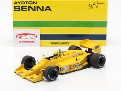 Ayrton Senna Lotus 99T #12 Winner Monaco GP Formel 1 1987 1:18 Minichamps
