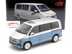 Volkswagen VW Multivan T6 Generation Six blue / silver 1:18 NZG