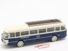 Saviem Chausson SC1 bus France year 1960 blue / cream 1:43 Altaya