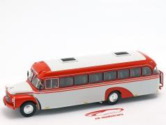 Volvo B 375 bus Sweden year 1957 red / white 1:43 Altaya