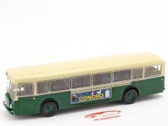 Berliet PCS10 bus France year 1960 dark green / beige 1:43 Altaya