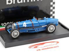 Rene Dreyfus Bugatti Type 59 #4 vencedor Bélgica GP fórmula 1 1934 1:43 Brumm
