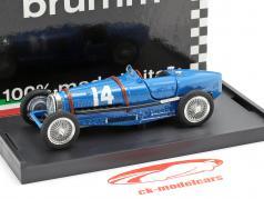 Tazio Nuvolari Bugatti Type 59 #14 Frankreich GP Formel 1 1934 1:43 Brumm