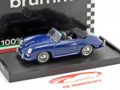 Porsche 356 Cabriolet Bouwjaar 1952 blauw 1:43 Brumm