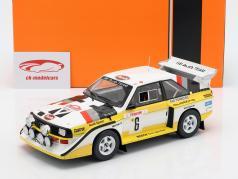 Audi Sport Quattro S1 E2 #6 3rd Rally Monte Carlo 1986 Mikkola, Hertz 1:18 Ixo