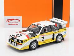 Audi Sport Quattro S1 E2 #2 4 ° Rallye Monte Carlo 1986 Röhrl, Geistdörfer 1:18 Ixo