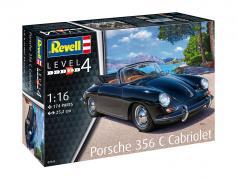 Porsche 356 C Cabriolet estojo preto 1:16 Revell