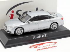 Audi A8L 銀 1:43 iScale