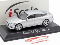 Audi A7 Sportback argento 1:43 iScale