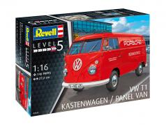 Volkswagen VW T1 Kastenwagen Porsche servicio de carreras equipo rojo 1:16 Revell