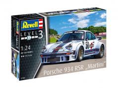 Porsche 934 RSR Martini Racing #50 estojo 1:24 Revell