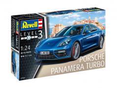 Porsche Panamera Turbo Bausatz blau 1:24 Revell