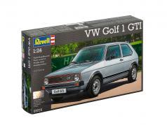 Volkswagen VW Golf 1 GTI kit sølv / rød 1:24 Revell