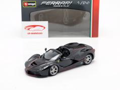 Ferrari LaFerrari Aperta 70th Anniversary Collection negro 1:24 Bburago