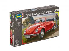 Volkswagen VW Käfer Cabriolet year 1970 kit red 1:24 Revell