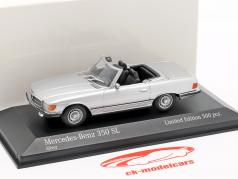 Mercedes-Benz 350 SL ano de construção 1974 prata metálico 1:43 Minichamps