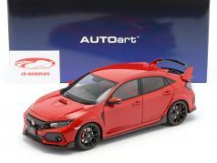 Honda Civic Type R (FK8) anno di costruzione 2017 rosso 1:18 AUTOart