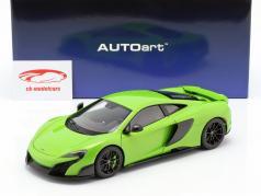 McLaren 675LT año de construcción 2016 verde 1:18 AUTOart