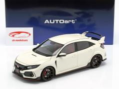 Honda Civic Type R (FK8) ano de construção 2017 branco 1:18 AUTOart
