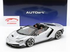 Lamborghini Centenario Roadster year 2016 silver 1:18 AUTOart