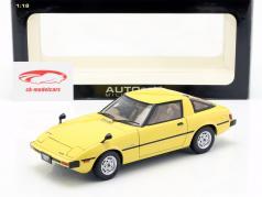 Mazda Savanna RX-7 (SA) GT-Limited ano de construção 1978 amarelo 1:18 AUTOart